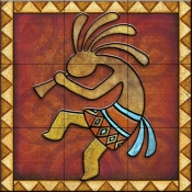 Kokopelli A Left   - Tile Mural