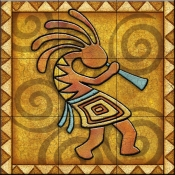 Kokopelli B Right   - Tile Mural