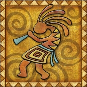 Kokopelli B Left   - Tile Mural