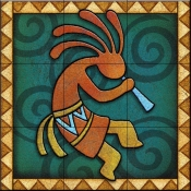 Kokopelli C Right   - Tile Mural