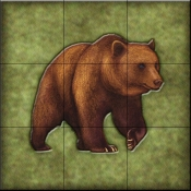 Lodge Grizzly Bear 2   - Tile Mural