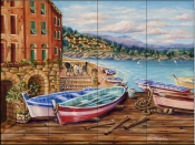 Boats by the Bay  - Tile Mural