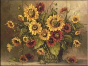 BM-Sunflower Bouquet  - Tile Mural
