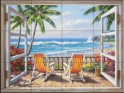 SK-Tropical Terrace  - Tile Mural