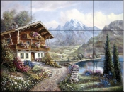 CV-High Country Retreat  - Tile Mural