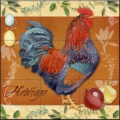 LW-Rooster Heritage  - Tile Mural