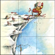 GP-Skiers Prayer  - Tile Mural