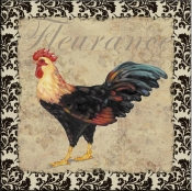 PB- Bergerac Rooster XII - Accent Tile