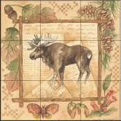 AP-Moose  - Tile Mural