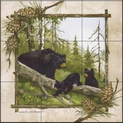 AP-Black Bears  - Tile Mural