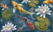 Magical Pond-JW - Tile Mural