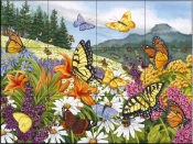 Butterfly Meadow-NW - Tile Mural