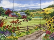 A Day in the Country-NW - Tile Mural