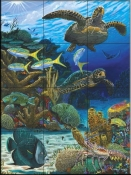 Caymen Turtles-CC - Tile Mural
