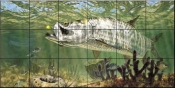 Golden Fly Tarpon-DR - Tile Mural