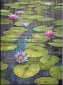 Morning Tropical Pond-DR - Tile Mural