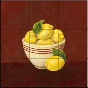 Bowl of Lemons-Y - Tile Mural