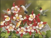 Hummingbird Feeding Frenzy-WV - Tile Mural