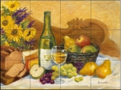 Autumn Afternoon Chardonnay-RK - Tile Mural