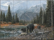 Black Bear Bend-CM - Tile Mural