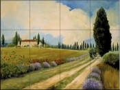Holiday in Tuscany-CH - Tile Mural