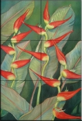Heliconia    - Tile Mural