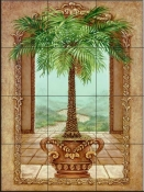 Classical Palm Tree-JK - Tile Mural