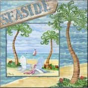 Whimsy Bay Collage I - PB - Accent Tile
