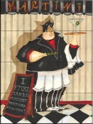 Martini Chef-JG - Tile Mural