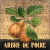 AW-French Pears - Tile Mural