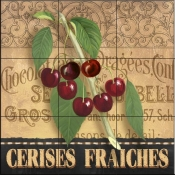 AW-Fresh Cherries - Tile Mural