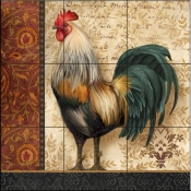 A French Rooster I-AW - Tile Mural