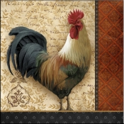 AW - A French Rooster II - Accent Tile
