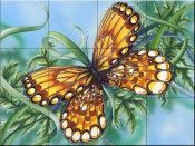 Amber Wings-DF - Tile Mural