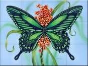 Emerald Wings-DF - Tile Mural