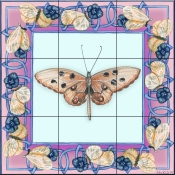 Butterfly Square 4-DF - Tile Mural