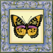 Butterfly Square 6 - DF - Accent Tile