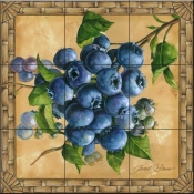 JS-Blueberries - Tile Mural