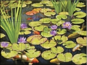 Koi Pond II-RS - Tile Mural