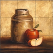 Jug with Apples - Tile Mural