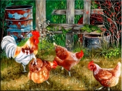 Pickin Chickens-VS - Tile Mural