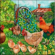 Farmyard Family II-VS - Tile Mural