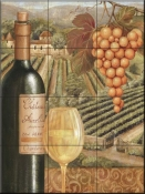 French Vineyard III-CB - Tile Mural