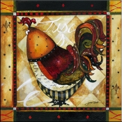 Tuscan Rooster II - JG - Accent Tile