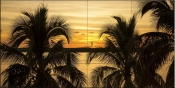 Sunset in Paradise 2-SA - Tile Mural