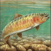 Cutthroat Trout-CF - Tile Mural
