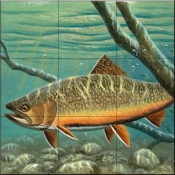 Brook Trout-CF - Tile Mural
