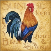 Roosters at Sunrise A - LC - Accent Tile