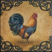 Rustic Rooster Square - LSH - Accent Tile