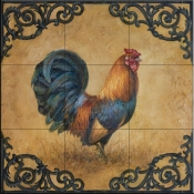 Rustic Rooster Square-LSH - Tile Mural